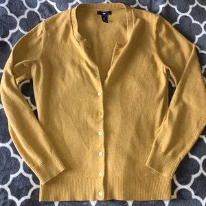 Gap golden mustard cardigan